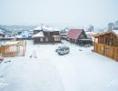 Территория базы зимой
