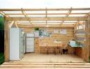 Летняя кухонная зона для гостей базы