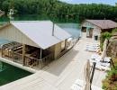Озеро Ая и баня на берегу