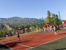 Летний теннисный корт
