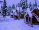 Общий вид зимой шале