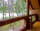 Вид из дома на территорию